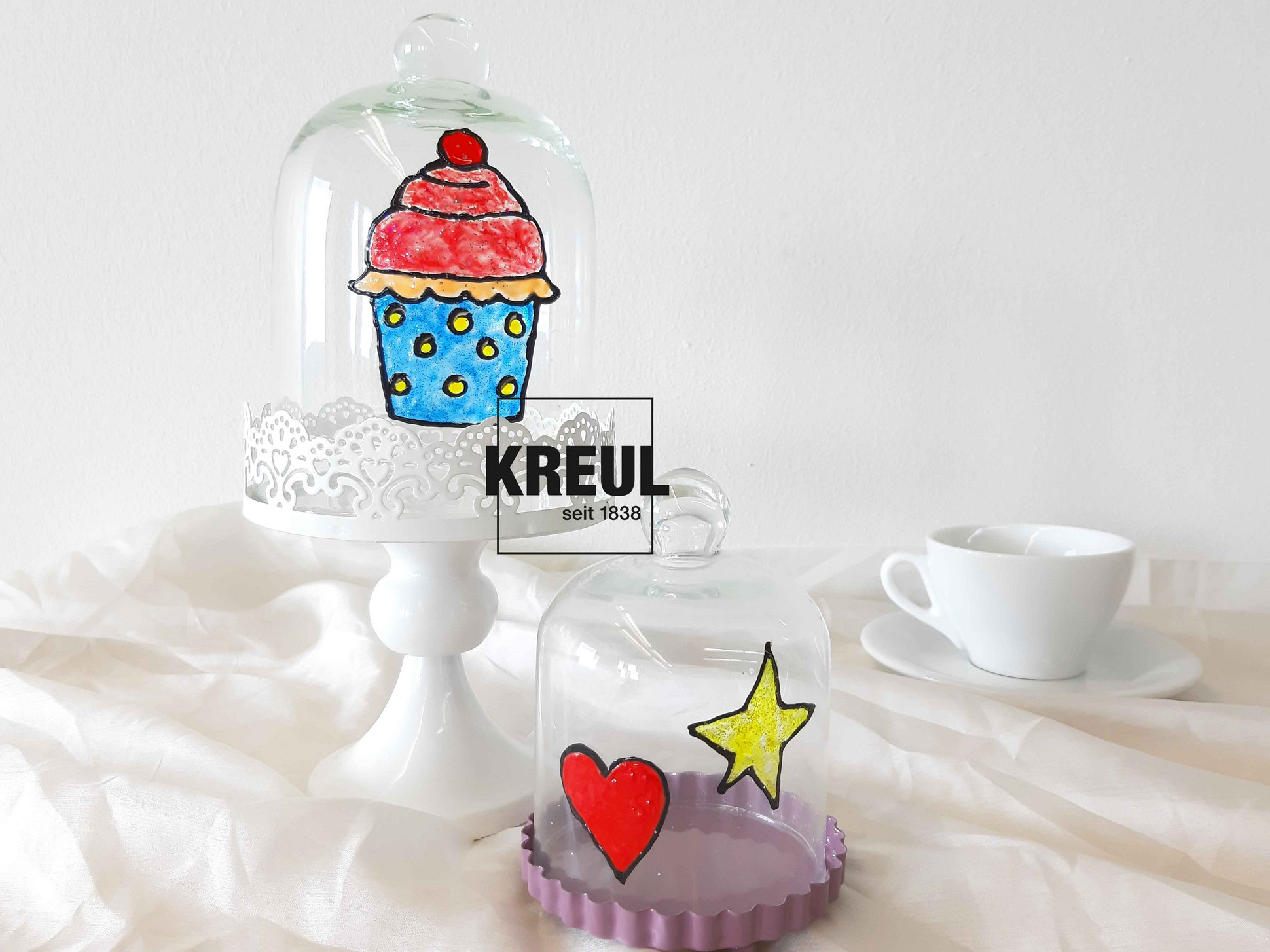 KREUL Window Color Verzieren Deko Küche Cupcake