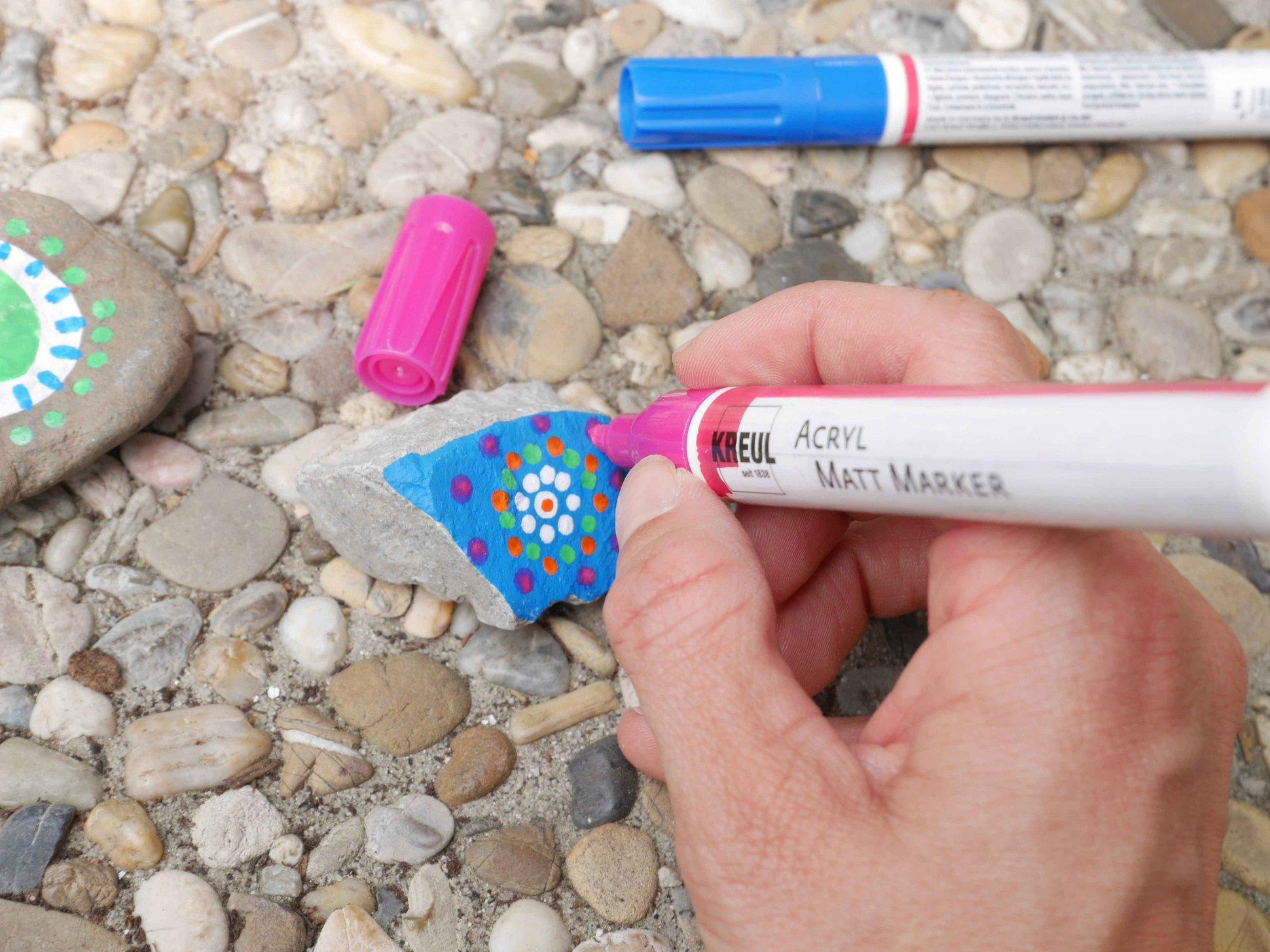 KREUL Acrylstift Steine anmalen verzieren