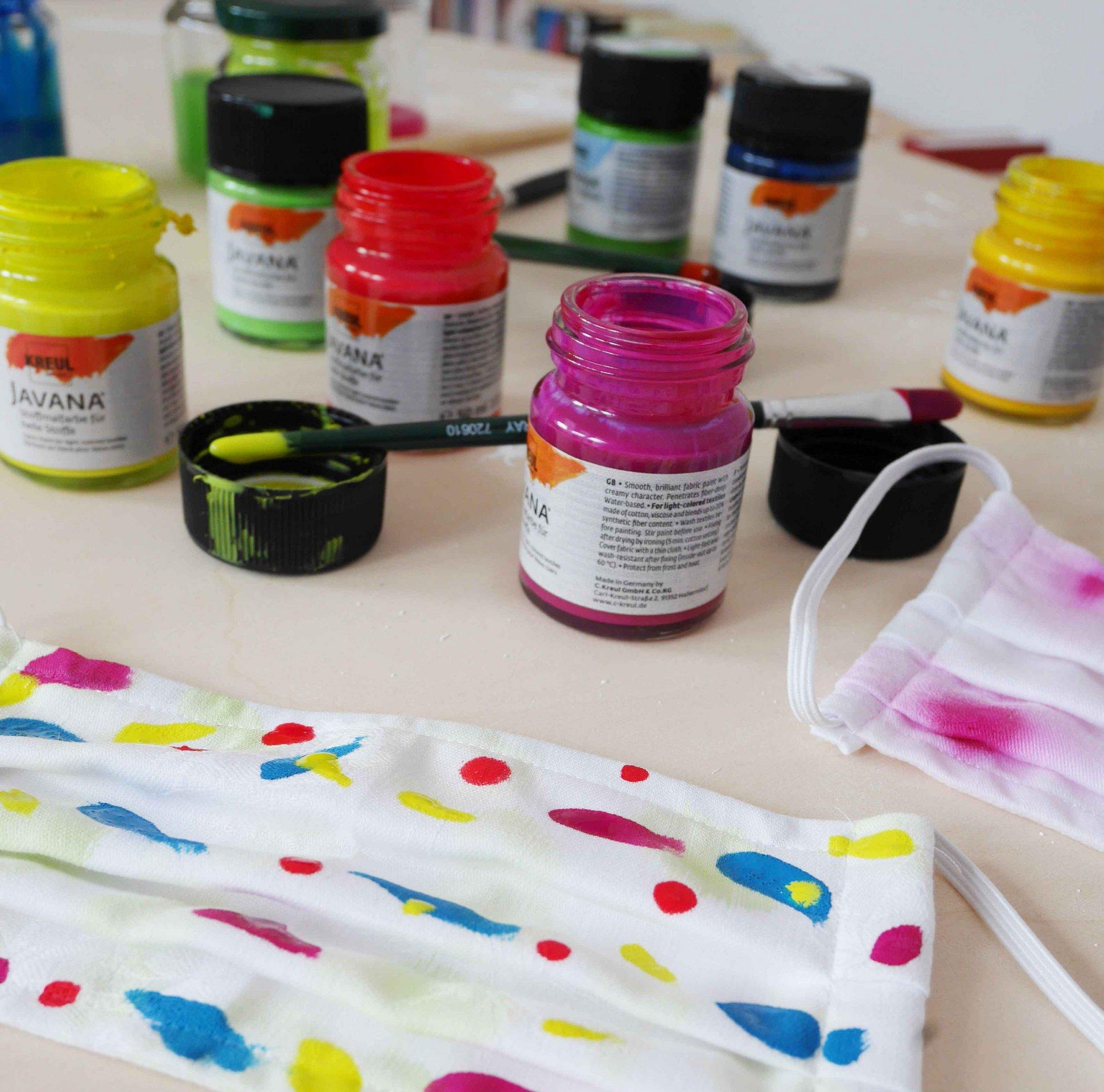 KREUL Javana Stoffmalfarbe DIY Mundschutz künstlerisch gestalten